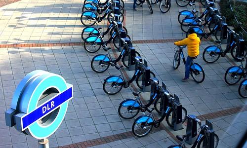 Boris Bikes DLR #dailyshoot #London