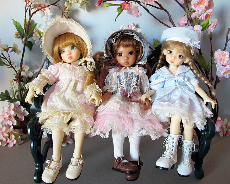Les tinies Kaye Wiggs d'Inma : Tillie fair, Tillie tan, Millie fair et Lillie Tan elf 8387953706_3608865ffb_c