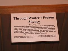 Information on 'Through Winter's Frozen Silence' Sculpture