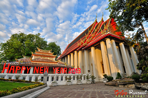 """Wat Pho's wishing you a Happy New Year 2013"""