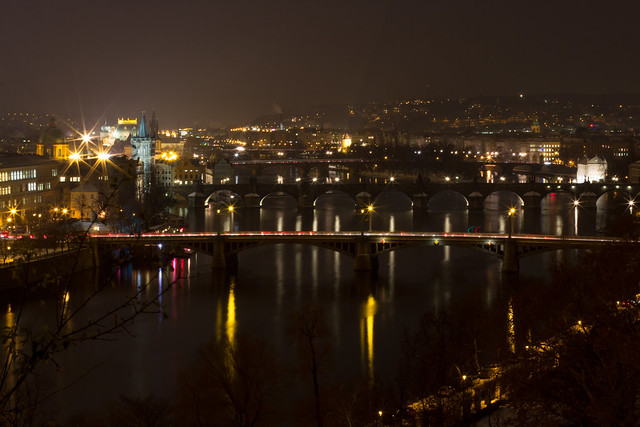 Prague's Bridges at Night