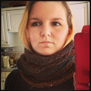 Cowl has been cast off #knitting