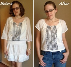 Breezy Tee Before & After
