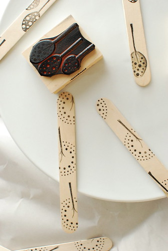 Home Day Craft: Stamped Sticks