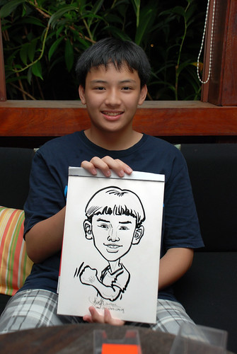 caricature live sketching for Mark Lee's daughter birthday party - 30