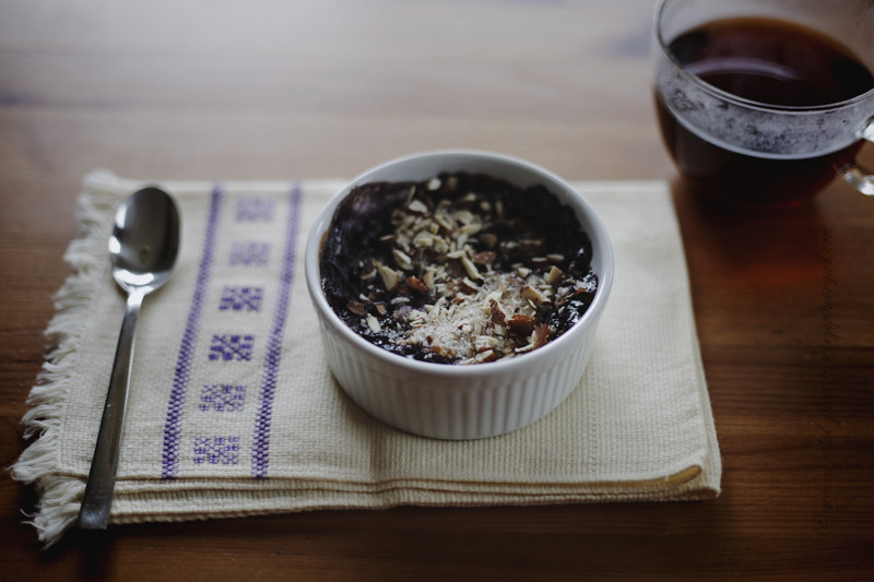 Baked Blueberry Oatmeal & Coffee