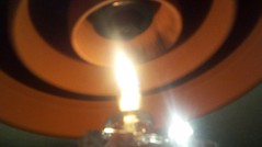 lamplight oil candle powers the flower pot
