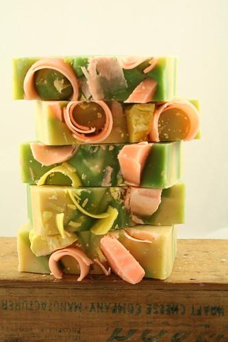 coconut citrus sorbet handmade soap 008