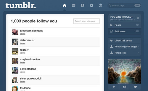 POC Zine Project reaches 1,000 followers on Tumblr!