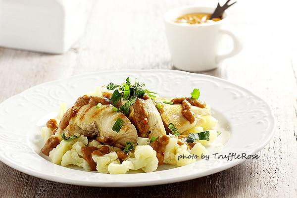 燒烤雞胸肉、花椰菜搭沙嗲醬 & 簡易雞胸肉燒烤法-20130201