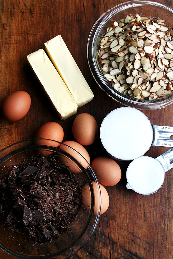 chocolate almond torte ingredien