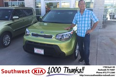 Congratulations Lonnie on your #Kia #Soul from Brad Kinzbach at Southwest KIA Rockwall!