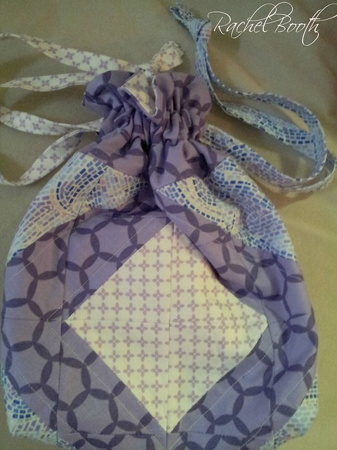 Drawstring Bag with Block Front