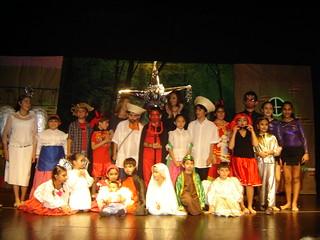 Con una pastorela navideña, concluye el ciclo de talleres para niños y jóvenes mexicanos en Panamá. Pequeños actores de pastorela