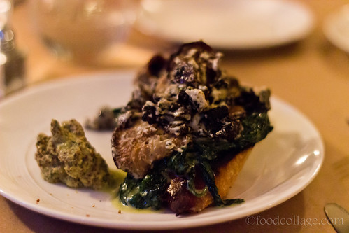 Morel Mushroom and Goat Cheese Toasts at The Supper Club