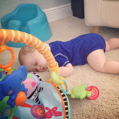 #latergram .. From this morning... He fell asleep on the floor. So cute!