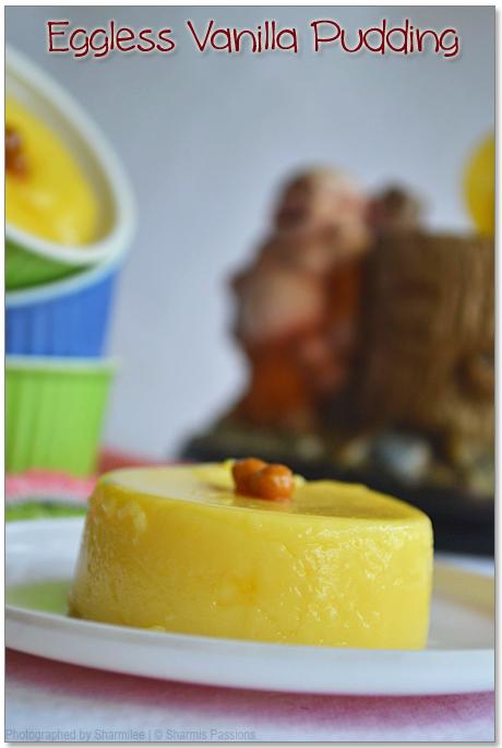 Eggless Vanilla Pudding Recipe