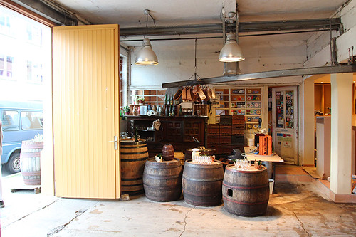 the entrance and tasting area