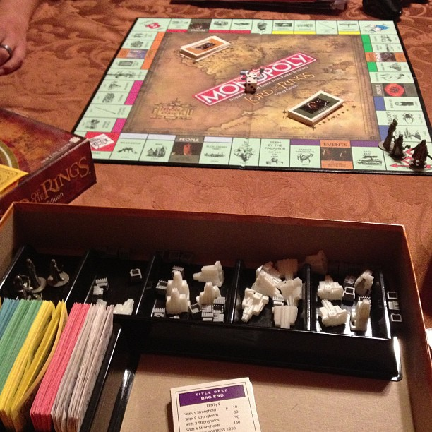 Monopoly is serious business. Why don't we own regular monopoly? #monopoly #lordoftherings