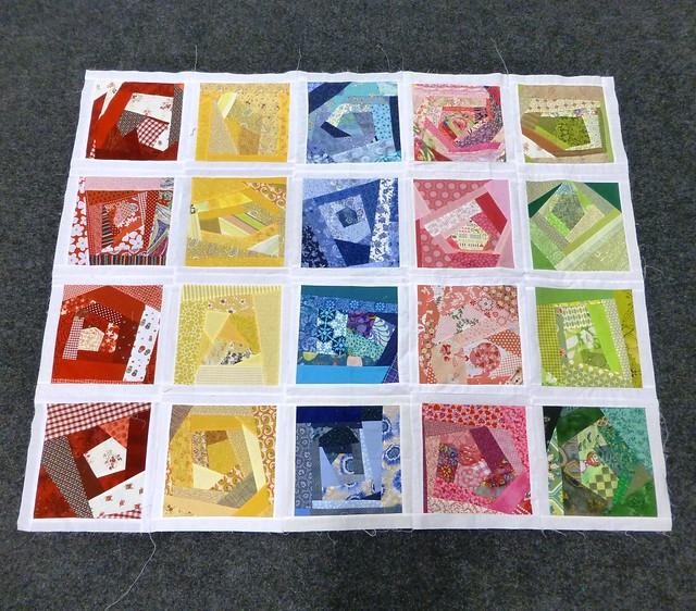 Bee Blessed Quilt (Crazy Squares 1) Dec12