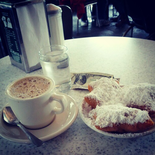 Coffee and beignets - another recommendation checked off the list!