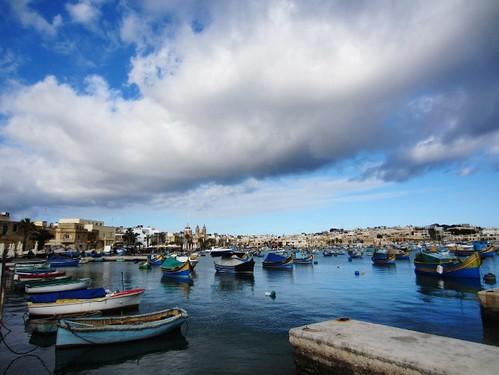 Denise's home town of Marsaxlokk, Malta