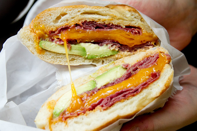 Avocado, cheddar, and corned beef | A Sandwich a Day: #4 Spe ...