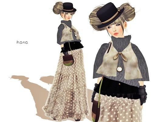 fur vest♥ivory
