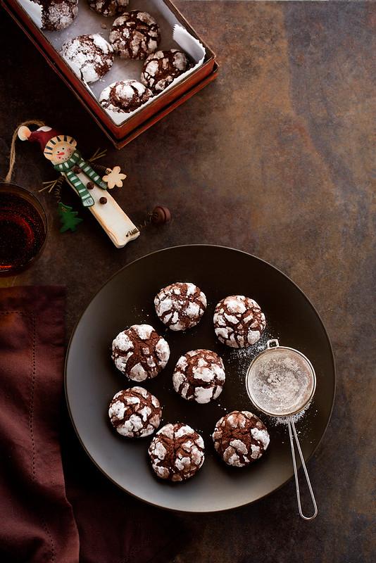 Biscotti al cioccolato, grappa e mandarino