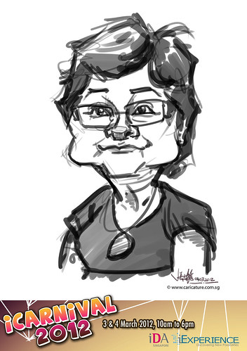 digital live caricature for iCarnival 2012  (IDA) - Day 2 - 37