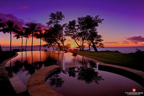 longexposure trees beach pool silhouette hawaii nikon shadows maui pacificocean le fullframe fx wailea d800 nikond800 leebigstopper nikkor1635mmf4lens sunsetpolo