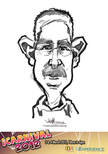 digital live caricature for iCarnival 2012  (IDA) - Day 1 - 75
