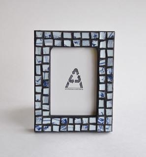 Moody Blue Mosaic Frame