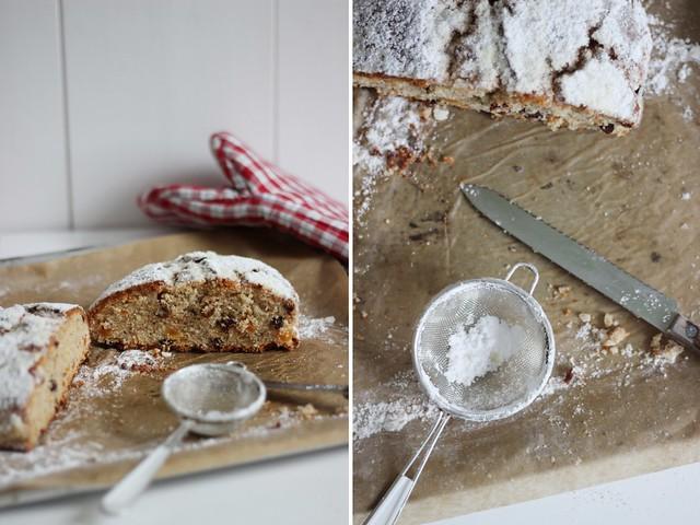 Food-♥: Quarkstollen mit Marzipan, Rosinen und Aprikosen