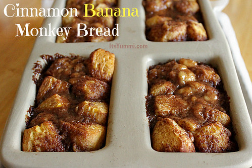 Cinnamon Banana Monkey Bread from ItsYummi.com