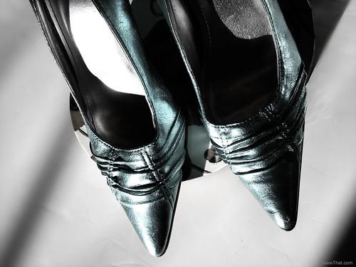 Silver NYE Heels