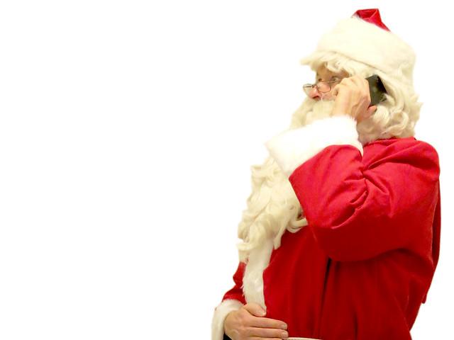 Santa Claus on the phone