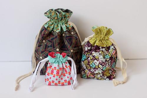 Drawstring Bags by Jeni Baker