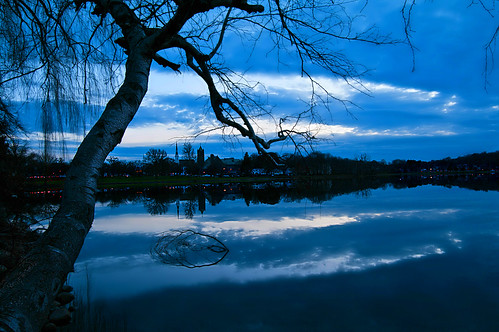 sunset sky tree silhouette clouds reflections massachusetts newengland wakefield lakequannapowitt
