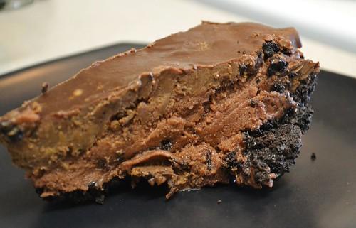 Cashew Chocolate Crumb Ice Cream Pie