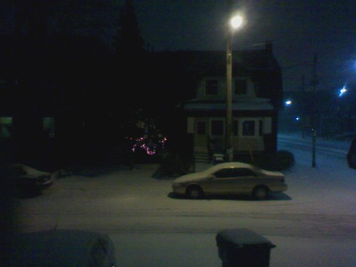 Snowfall at 11 o'clock