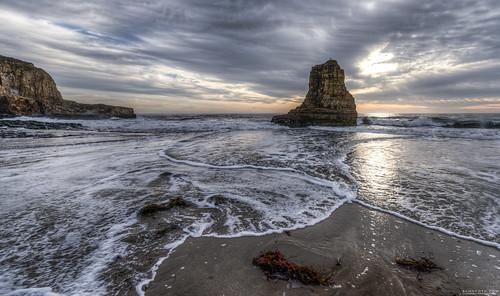 ocean sunset santacruz seascape beach northerncalifornia rock landscape waves pacific seagull stack explore foam perch frontpage hdr gettyimages seastack thestack fav100 fav200 fav300 10000v explored fav500 fav400 elmofoto davenportstack
