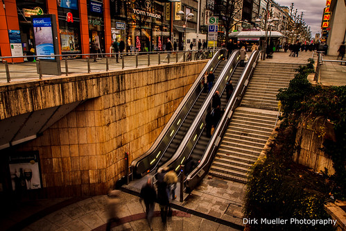 escalator up and down by Dirk Mueller Photography