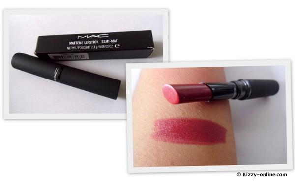 MAC Cosmetics Mattene Lipstick Semi-Mat Camden Chic