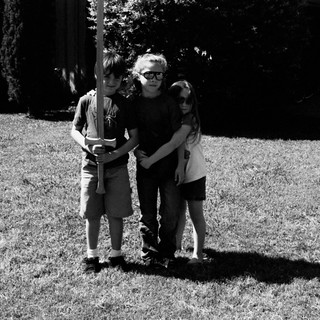 Alex, Squeaky, and Madeleine, summer 2012