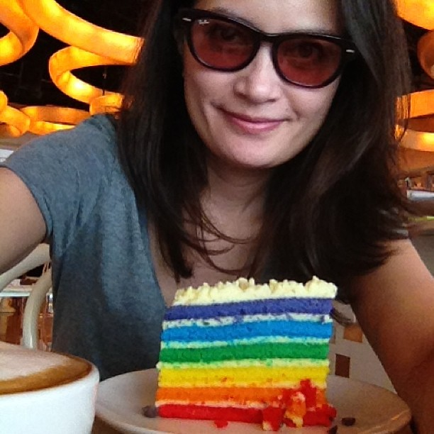 Happiness is a rainbow cake! #bridabistro
