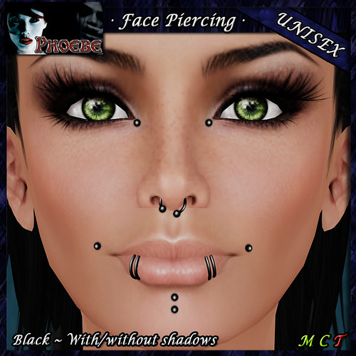 $49l Offer! *P* Unisex Face Piercing K8 ~Black~