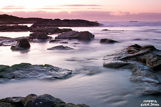 Image of Stockton Beach near Medowie. ocean pink water sunrise landscape australia nsw fishermansbay stocktonsbeach