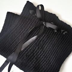 Loom Knit Linen Stitch Cowl