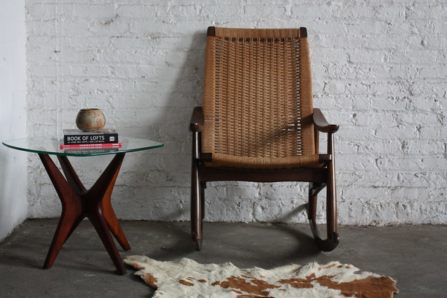 Regal Mid Century Danish Modern Woven Rope Rocker (1960's)
